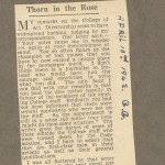 """""""Thorn in the Rose"""" article."""