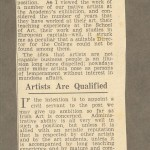 Article arguing that artists are qualified.