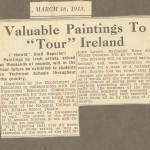 Art touring Ireland, article 16 March 1943.