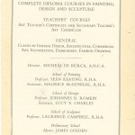 Advertisement Pamphlet for Diploma Courses from the National College of Art