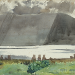 Mountain Showers Achill, Watercolour on Board, circa 1940.