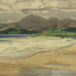 From Bertra Beach to Nephen Mountains, Watercolour, circa 1930