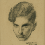 Charcoal by Sean O'Sullivan of Michéal de Búrca, circa 1930.