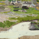 West of Ireland (Actual Location Unknown), Watercolour, Unfinished, circa 1930.