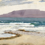 Bertra Beach and Mulranny, Unfinished, Watercolour on Board, circa 1940.