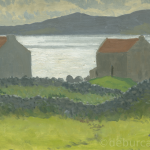 Store Sheds by the Sea, West of Ireland, Oil on Board, circa 1940.
