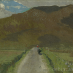 Road to Slieve Mór, Achill, Oil on Board, circa 1950.