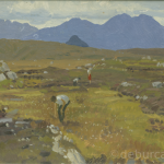 Footing the Turf, Oil on Board, circa 1960.
