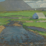 Sliab Mór Achill, Oil on Board.