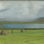 Lough Caoite Achill, Oil on Board, circa 1950.