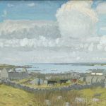 Milking Time in the West, Connemara, Oil on Board, circa 1960.
