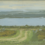 Bog Road, Connemara, Oil on Board circa 1960.