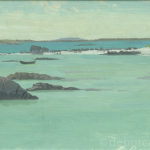 Turquoise Sea Connemara, Oil on Board, circa 1960.