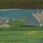 Keel Beach and Minaun Cliffs, Oil on Board, circa 1940.
