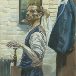 Steve the Porter NCA, Dublin, Watercolour, circa 1930.